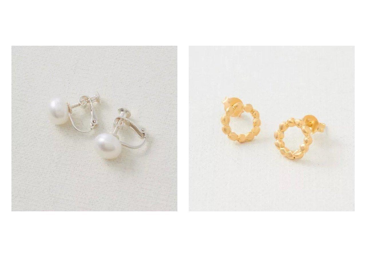 【collex/コレックス】の【ピッシェアンス】Freshwater pearl Earri&【ピッシェアンス】Grainy ring Pierce(gol おすすめ!人気、トレンド・レディースファッションの通販  おすすめで人気の流行・トレンド、ファッションの通販商品 メンズファッション・キッズファッション・インテリア・家具・レディースファッション・服の通販 founy(ファニー) https://founy.com/ ファッション Fashion レディースファッション WOMEN ジュエリー Jewelry リング Rings アクセサリー イヤリング シルバー シンプル スエード パール ベーシック ポーチ |ID:crp329100000014610