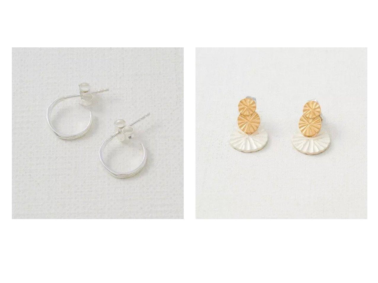 【collex/コレックス】の【ピッシェアンス】Wave-Line hoop Pierce(&【ピッシェアンス】Radial plate Pierce おすすめ!人気、トレンド・レディースファッションの通販  おすすめで人気の流行・トレンド、ファッションの通販商品 メンズファッション・キッズファッション・インテリア・家具・レディースファッション・服の通販 founy(ファニー) https://founy.com/ ファッション Fashion レディースファッション WOMEN アクセサリー シルバー スエード テクスチャー フープ ポーチ グラデーション サークル ハンド プレート ワーク |ID:crp329100000014612