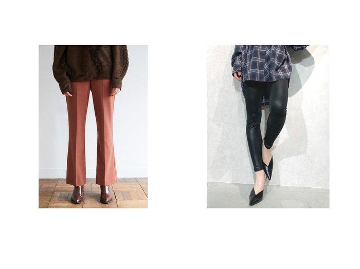 【GYDA/ジェイダ】のbasicレギンス&【moussy/マウジー】のHW SLIM FLARE パンツ パンツのおすすめ!人気、トレンド・レディースファッションの通販 おすすめ人気トレンドファッション通販アイテム 人気、トレンドファッション・服の通販 founy(ファニー)  ファッション Fashion レディースファッション WOMEN パンツ Pants レギンス Leggings 2020年 2020 2020-2021 秋冬 A/W AW Autumn/Winter / FW Fall-Winter 2020-2021 A/W 秋冬 AW Autumn/Winter / FW Fall-Winter フレア リラックス ベーシック レギンス |ID:crp329100000014665