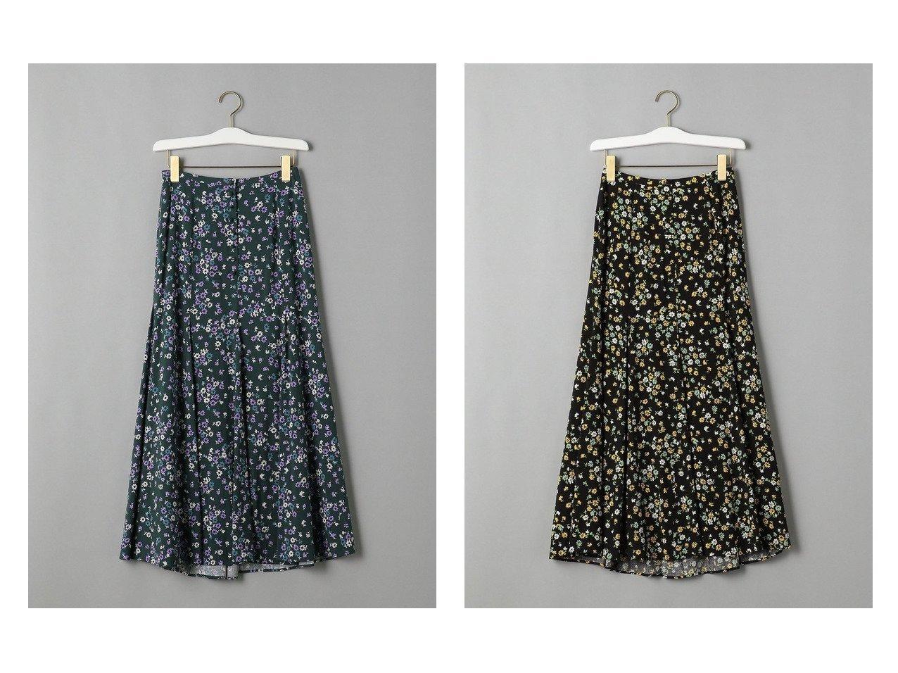 【BEAUTY&YOUTH UNITED ARROWS/ビューティアンド ユースユナイテッドアローズ】のBY フラワープリントフレアマキシスカート スカートのおすすめ!人気、トレンド・レディースファッションの通販 おすすめで人気の流行・トレンド、ファッションの通販商品 メンズファッション・キッズファッション・インテリア・家具・レディースファッション・服の通販 founy(ファニー) https://founy.com/ ファッション Fashion レディースファッション WOMEN スカート Skirt ロングスカート Long Skirt NEW・新作・新着・新入荷 New Arrivals シンプル タンク ドレープ フレア マキシ ロング 春 Spring |ID:crp329100000014668