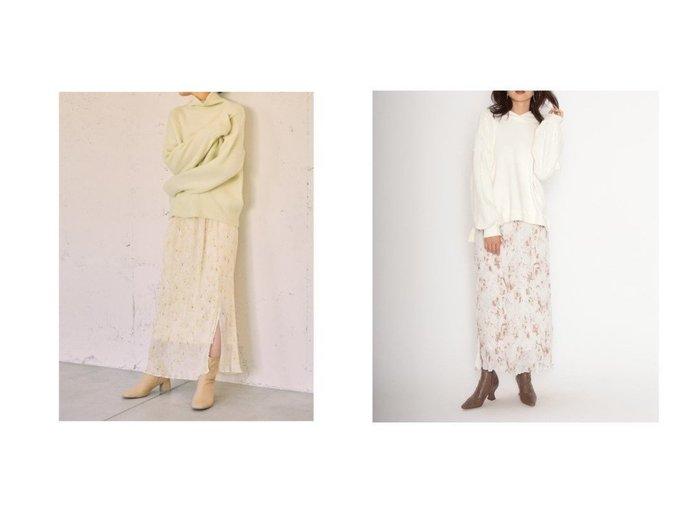 【SNIDEL/スナイデル】のシフォンプリーツプリントタイトスカート スカートのおすすめ!人気、トレンド・レディースファッションの通販 おすすめファッション通販アイテム インテリア・キッズ・メンズ・レディースファッション・服の通販 founy(ファニー) https://founy.com/ ファッション Fashion レディースファッション WOMEN スカート Skirt イエロー 春 Spring シフォン スマート スリット プリント プリーツ ミックス ロング A/W 秋冬 AW Autumn/Winter / FW Fall-Winter |ID:crp329100000014670