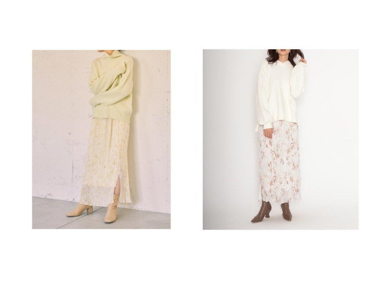 【SNIDEL/スナイデル】のシフォンプリーツプリントタイトスカート スカートのおすすめ!人気、トレンド・レディースファッションの通販 おすすめで人気の流行・トレンド、ファッションの通販商品 メンズファッション・キッズファッション・インテリア・家具・レディースファッション・服の通販 founy(ファニー) https://founy.com/ ファッション Fashion レディースファッション WOMEN スカート Skirt イエロー 春 Spring シフォン スマート スリット プリント プリーツ ミックス ロング A/W 秋冬 AW Autumn/Winter / FW Fall-Winter |ID:crp329100000014670