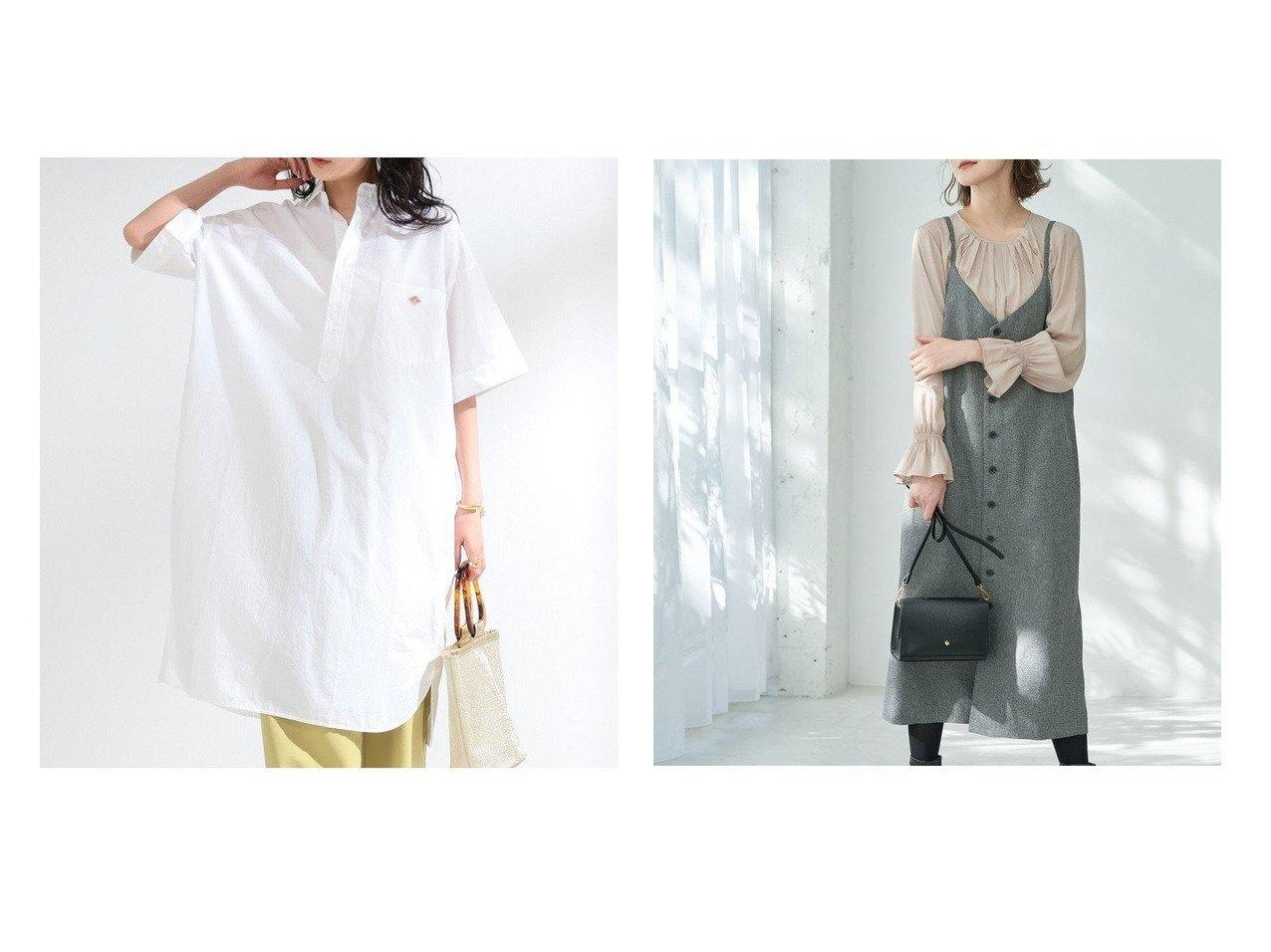 【Ray BEAMS/レイ ビームス】のコットン ポプリン ワンピース&【Rope Picnic/ロペピクニック】のツイードキャミワンピース ワンピース・ドレスのおすすめ!人気、トレンド・レディースファッションの通販 おすすめで人気の流行・トレンド、ファッションの通販商品 メンズファッション・キッズファッション・インテリア・家具・レディースファッション・服の通販 founy(ファニー) https://founy.com/ ファッション Fashion レディースファッション WOMEN ワンピース Dress シャツワンピース Shirt Dresses キャミワンピース No Sleeve Dresses シンプル フランス リラックス ワーク カットソー キャミソール キャミワンピース ツイード フロント ポケット 春 Spring |ID:crp329100000014758