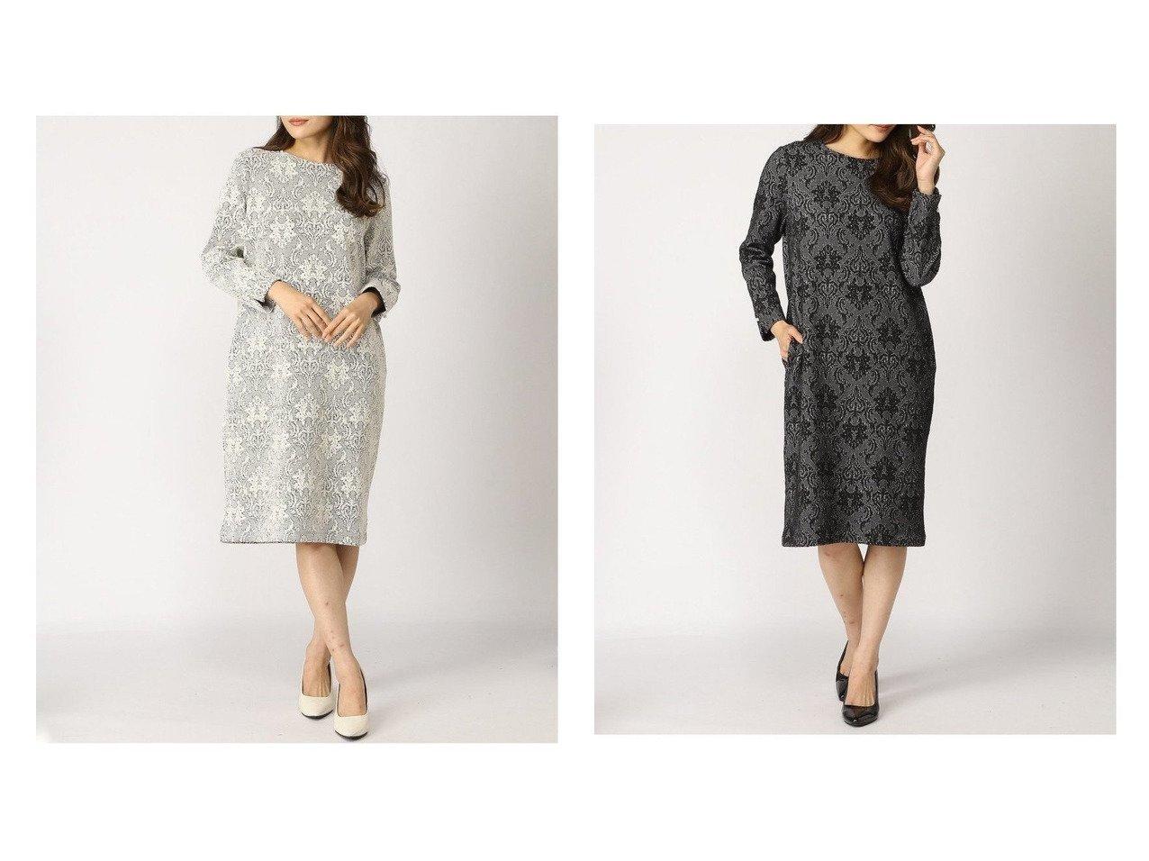 【A/C DESIGN BY ALPHACUBIC/エーシーデザインバイアルファキュービック】の幾何柄ワンピース ワンピース・ドレスのおすすめ!人気、トレンド・レディースファッションの通販 おすすめで人気の流行・トレンド、ファッションの通販商品 メンズファッション・キッズファッション・インテリア・家具・レディースファッション・服の通販 founy(ファニー) https://founy.com/ ファッション Fashion レディースファッション WOMEN ワンピース Dress ウォッシャブル クラシック ジャカード 長袖  ID:crp329100000014770