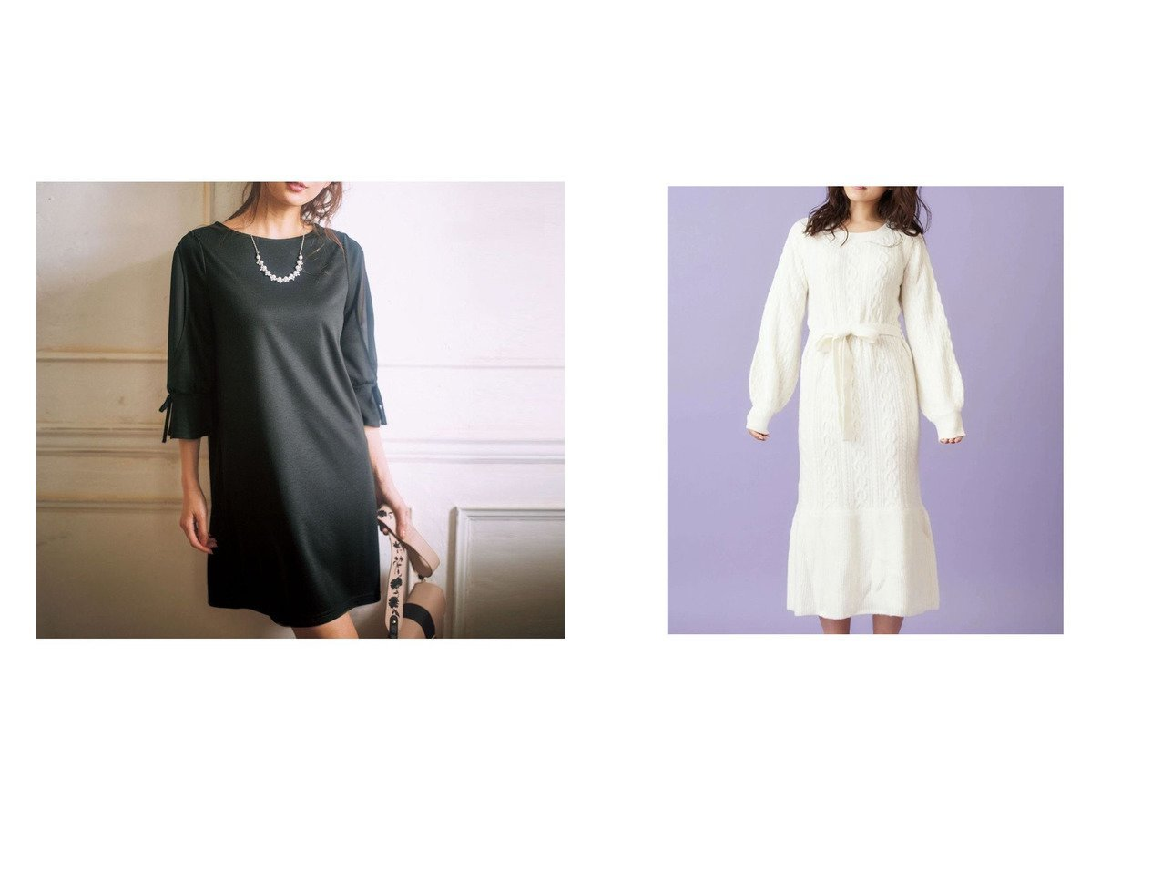 【MiiA/ミーア】のエンジェルワンピース&【GeeRa/ジーラ】のネックレス付袖シフォンサックワンピース ワンピース・ドレスのおすすめ!人気、トレンド・レディースファッションの通販 おすすめで人気の流行・トレンド、ファッションの通販商品 メンズファッション・キッズファッション・インテリア・家具・レディースファッション・服の通販 founy(ファニー) https://founy.com/ ファッション Fashion レディースファッション WOMEN ワンピース Dress ジュエリー Jewelry ネックレス Necklaces A/W 秋冬 AW Autumn/Winter / FW Fall-Winter ネックレス レース 切替 2020年 2020 2020-2021 秋冬 A/W AW Autumn/Winter / FW Fall-Winter 2020-2021 リボン  ID:crp329100000014778