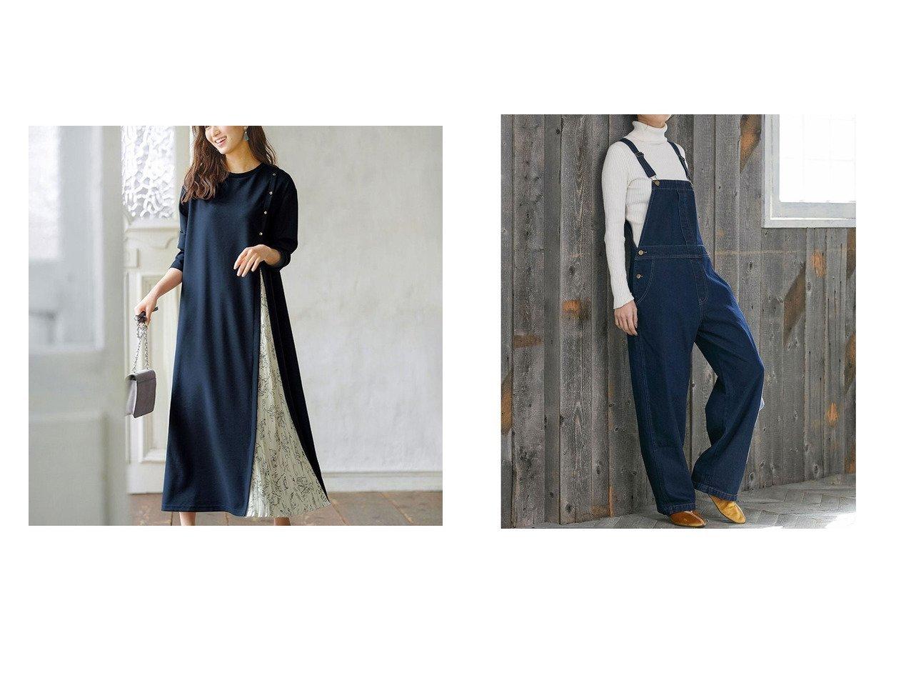 【GeeRa/ジーラ】のボタンデザインサイドプリーツワンピース&【VIS/ビス】の【Daily use】デニムサロペット ワンピース・ドレスのおすすめ!人気、トレンド・レディースファッションの通販 おすすめで人気の流行・トレンド、ファッションの通販商品 メンズファッション・キッズファッション・インテリア・家具・レディースファッション・服の通販 founy(ファニー) https://founy.com/ ファッション Fashion レディースファッション WOMEN ワンピース Dress サロペット Salopette 2021年 2021 2021 春夏 S/S SS Spring/Summer 2021 S/S 春夏 SS Spring/Summer インナー ジョーゼット フロント プリーツ 春 Spring ポケット  ID:crp329100000014779