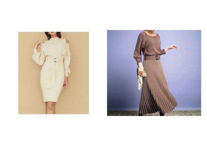 【GeeRa/ジーラ】の前後2WAYプリーツニットワンピース&【RESEXXY/リゼクシー】のカシュクールドッキングワンピース ワンピース・ドレスのおすすめ!人気、トレンド・レディースファッションの通販 おすすめファッション通販アイテム レディースファッション・服の通販 founy(ファニー)  ファッション Fashion レディースファッション WOMEN ワンピース Dress ニットワンピース Knit Dresses カシュクール ノースリーブ 2020年 2020 2020-2021 秋冬 A/W AW Autumn/Winter / FW Fall-Winter 2020-2021 A/W 秋冬 AW Autumn/Winter / FW Fall-Winter プリーツ |ID:crp329100000014780