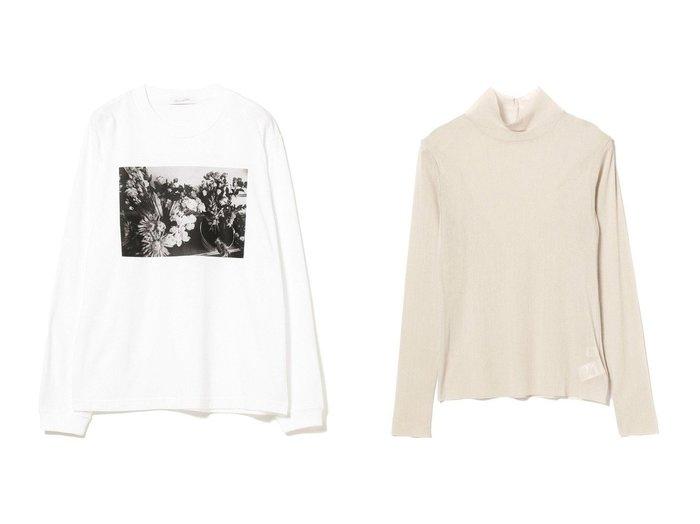 【Ray BEAMS/レイ ビームス】のチュール ハイネック ロングスリーブ カットソー&FLOWER ロングスリーブ Tシャツ トップス・カットソーのおすすめ!人気、トレンド・レディースファッションの通販 おすすめファッション通販アイテム レディースファッション・服の通販 founy(ファニー) ファッション Fashion レディースファッション WOMEN トップス Tops Tshirt シャツ/ブラウス Shirts Blouses ロング / Tシャツ T-Shirts カットソー Cut and Sewn タートルネック Turtleneck A/W 秋冬 AW Autumn/Winter / FW Fall-Winter カットソー スタイリッシュ スリーブ ルーズ ロング |ID:crp329100000014803