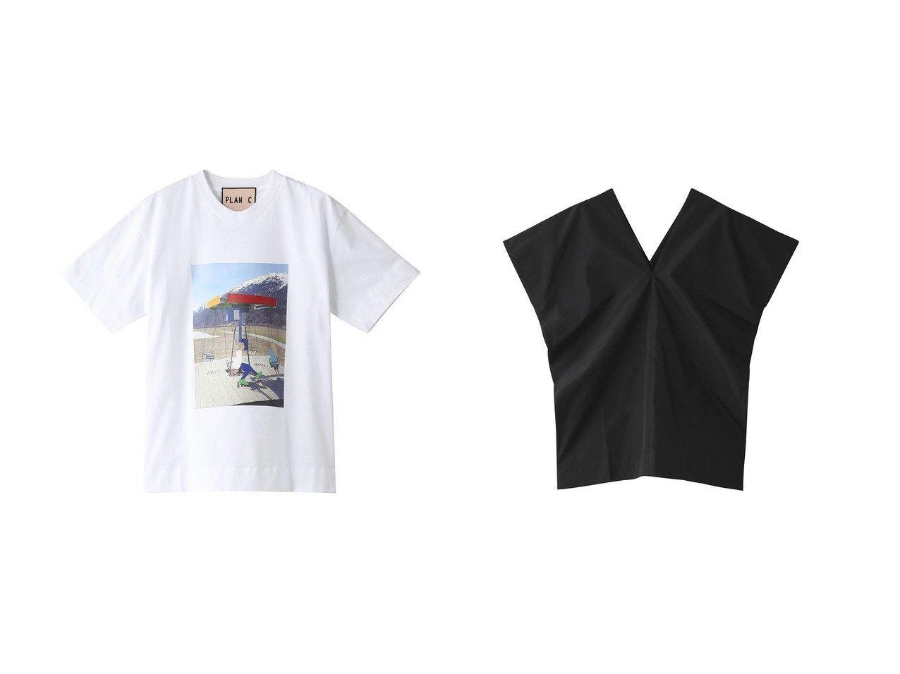 【Plan C/プラン C】のコットンジャージープリントTシャツ&ナイロンVネックトップス トップス・カットソーのおすすめ!人気、トレンド・レディースファッションの通販 おすすめで人気の流行・トレンド、ファッションの通販商品 メンズファッション・キッズファッション・インテリア・家具・レディースファッション・服の通販 founy(ファニー) https://founy.com/ ファッション Fashion レディースファッション WOMEN トップス Tops Tshirt シャツ/ブラウス Shirts Blouses ロング / Tシャツ T-Shirts カットソー Cut and Sewn Vネック V-Neck 2021年 2021 2021 春夏 S/S SS Spring/Summer 2021 S/S 春夏 SS Spring/Summer ショート スリーブ バランス フロント プリント 春 Spring |ID:crp329100000014808