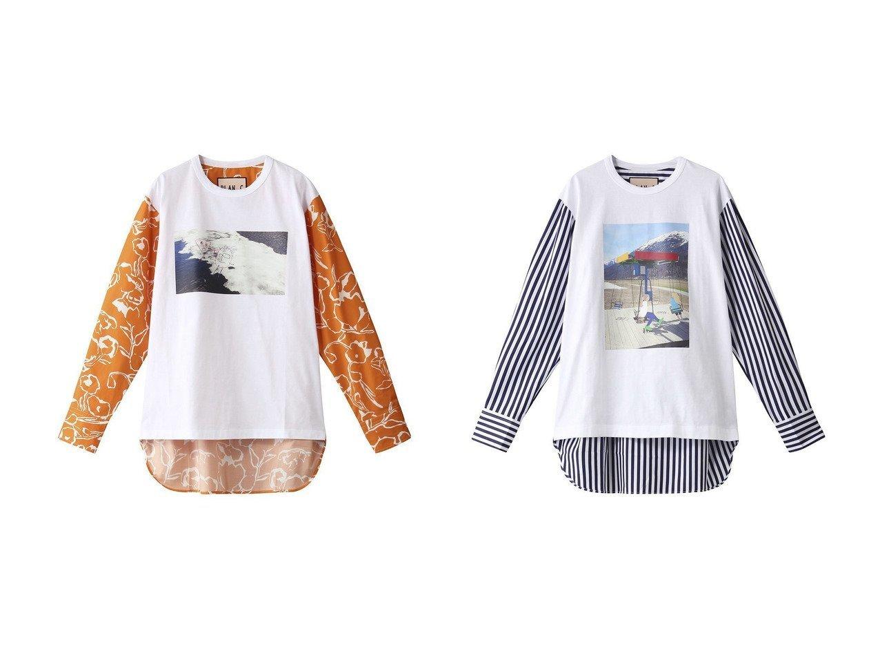 【Plan C/プラン C】のコットンジャージープリントロングTシャツ&コットンジャージープリントストライプロングTシャツ トップス・カットソーのおすすめ!人気、トレンド・レディースファッションの通販 おすすめで人気の流行・トレンド、ファッションの通販商品 メンズファッション・キッズファッション・インテリア・家具・レディースファッション・服の通販 founy(ファニー) https://founy.com/ ファッション Fashion レディースファッション WOMEN トップス Tops Tshirt シャツ/ブラウス Shirts Blouses ロング / Tシャツ T-Shirts カットソー Cut and Sewn 2021年 2021 2021 春夏 S/S SS Spring/Summer 2021 S/S 春夏 SS Spring/Summer シンプル スリーブ フロント プリント ボトム ロング 春 Spring |ID:crp329100000014809