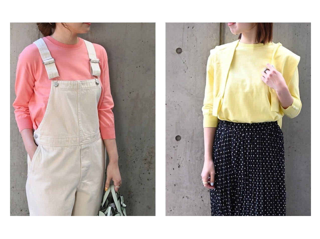 【SHIPS any/シップス エニィ】のSHIPS any ファインコットン カラーニット クルーネック プルオーバー トップス・カットソーのおすすめ!人気、トレンド・レディースファッションの通販 おすすめで人気の流行・トレンド、ファッションの通販商品 メンズファッション・キッズファッション・インテリア・家具・レディースファッション・服の通販 founy(ファニー) https://founy.com/ ファッション Fashion レディースファッション WOMEN トップス Tops Tshirt ニット Knit Tops プルオーバー Pullover アンサンブル インナー オーガニック カーディガン 抗菌 シンプル デニム ベーシック 再入荷 Restock/Back in Stock/Re Arrival NEW・新作・新着・新入荷 New Arrivals |ID:crp329100000014810