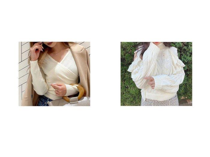 【Swankiss/スワンキス】のDR laceup cable knit&【RESEXXY/リゼクシー】のカシュクールニットトップス トップス・カットソーのおすすめ!人気、トレンド・レディースファッションの通販 おすすめファッション通販アイテム レディースファッション・服の通販 founy(ファニー)  ファッション Fashion レディースファッション WOMEN トップス Tops Tshirt ニット Knit Tops インナー ベーシック ボトム 人気 秋 Autumn/Fall 2020年 2020 2020-2021 秋冬 A/W AW Autumn/Winter / FW Fall-Winter 2020-2021 A/W 秋冬 AW Autumn/Winter / FW Fall-Winter |ID:crp329100000014851