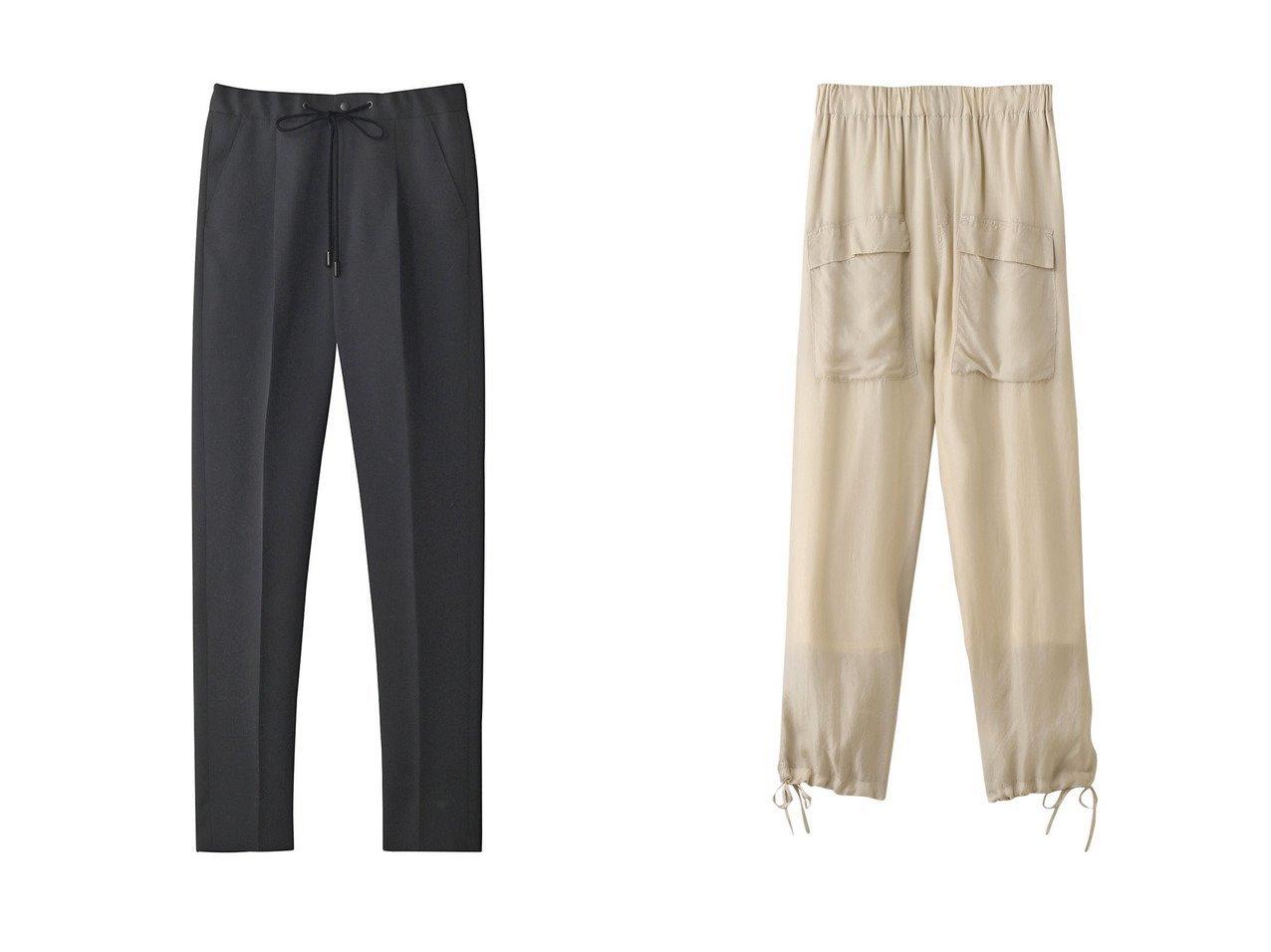 【THE RERACS/ザ リラクス】のウールスリムイージースラックス&【TICCA/ティッカ】のカーゴパンツ パンツのおすすめ!人気、トレンド・レディースファッションの通販 おすすめで人気の流行・トレンド、ファッションの通販商品 メンズファッション・キッズファッション・インテリア・家具・レディースファッション・服の通販 founy(ファニー) https://founy.com/ ファッション Fashion レディースファッション WOMEN パンツ Pants 2021年 2021 2021 春夏 S/S SS Spring/Summer 2021 S/S 春夏 SS Spring/Summer カットソー シンプル スラックス ダブル 春 Spring  ID:crp329100000014952