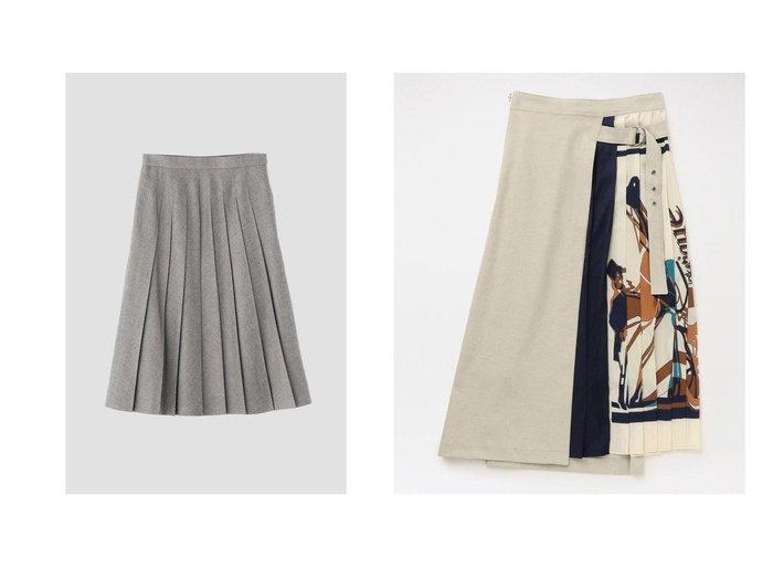【MARGARET HOWELL/マーガレットハウエル】のFINE FLANNEL&【LOVELESS/ラブレス】のプリーツ コンビ スカート スカートのおすすめ!人気、トレンド・レディースファッションの通販 おすすめファッション通販アイテム レディースファッション・服の通販 founy(ファニー) ファッション Fashion レディースファッション WOMEN スカート Skirt Aライン/フレアスカート Flared A-Line Skirts シンプル コンビ プリント プリーツ 再入荷 Restock/Back in Stock/Re Arrival |ID:crp329100000014966