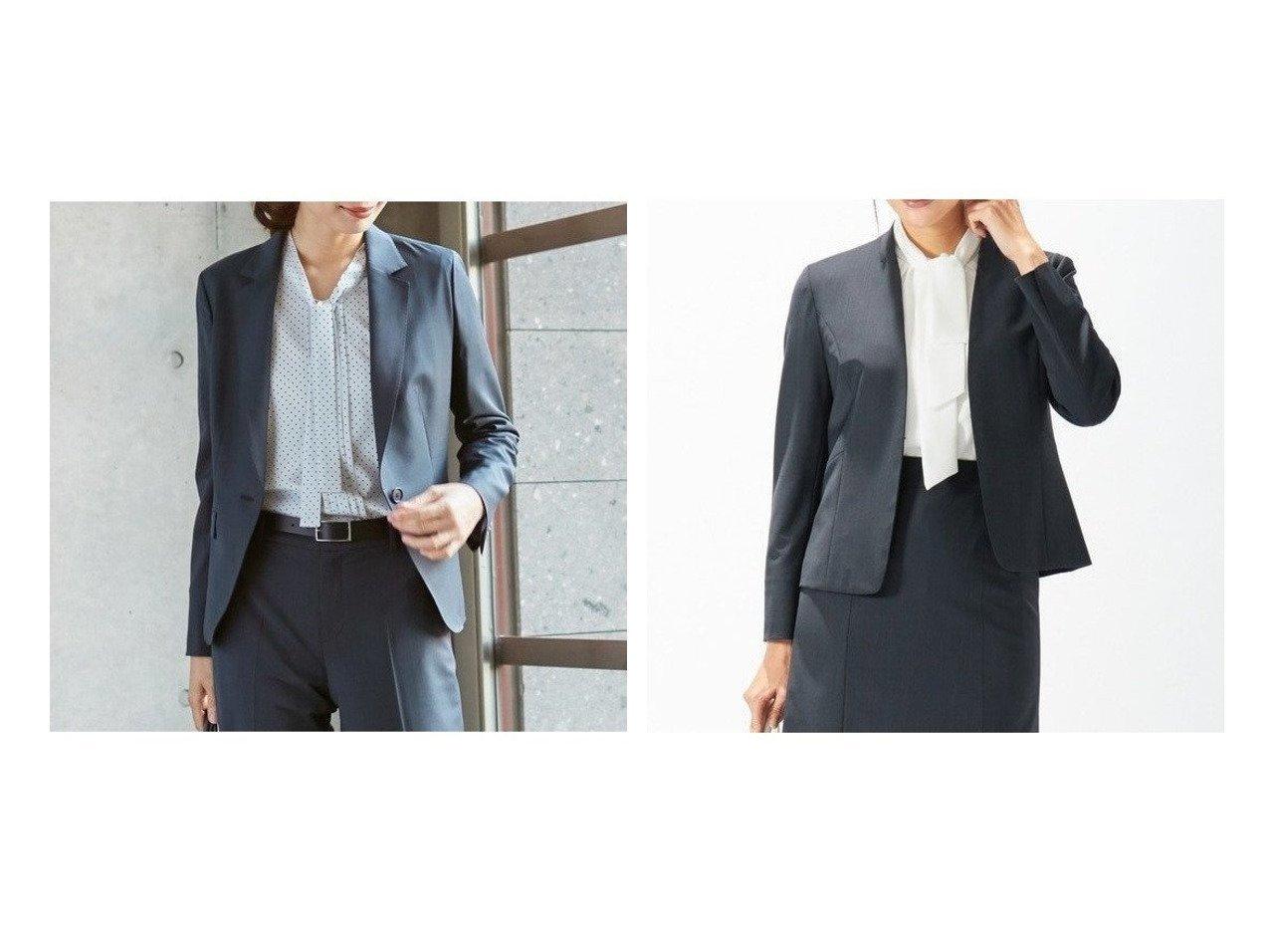 【J.PRESS/ジェイ プレス】の【スーツ】BAHARIYEネイビー テーラードジャケット&【スーツ】BAHARIYE ネイビー ノーカラージャケット アウターのおすすめ!人気、トレンド・レディースファッションの通販 おすすめで人気の流行・トレンド、ファッションの通販商品 メンズファッション・キッズファッション・インテリア・家具・レディースファッション・服の通販 founy(ファニー) https://founy.com/ ファッション Fashion レディースファッション WOMEN アウター Coat Outerwear ジャケット Jackets テーラードジャケット Tailored Jackets スーツ Suits スーツ ジャケット Jacket ノーカラージャケット No Collar Leather Jackets ジャケット ストレッチ スーツ セットアップ チェック ボトム 無地 送料無料 Free Shipping  ID:crp329100000015030