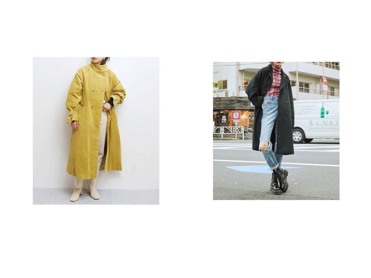【jouetie/ジュエティ】のjouetie オーバーチェスターコート&【UNGRID/アングリッド】のUngrid ハイネックコーデュロイロングコート アウターのおすすめ!人気、トレンド・レディースファッションの通販 おすすめで人気の流行・トレンド、ファッションの通販商品 メンズファッション・キッズファッション・インテリア・家具・レディースファッション・服の通販 founy(ファニー) https://founy.com/ ファッション Fashion レディースファッション WOMEN アウター Coat Outerwear コート Coats チェスターコート Top Coat 春 Spring コーデュロイ 今季 シューズ ストレート スリーブ デニム ハイネック フラット ボトム ロング 冬 Winter 2021年 2021 S/S 春夏 SS Spring/Summer 2021 春夏 S/S SS Spring/Summer 2021 アクリル チェスターコート ミックス  ID:crp329100000015034