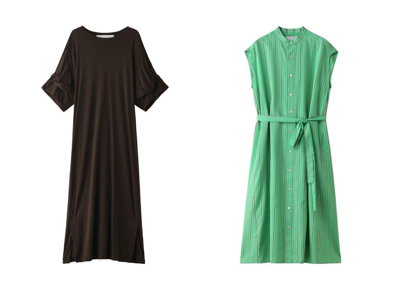 【TICCA/ティッカ】のツイストスリーブワンピース&ノーカラーフレンチストライプワンピース ワンピース・ドレスのおすすめ!人気、トレンド・レディースファッションの通販 おすすめで人気の流行・トレンド、ファッションの通販商品 メンズファッション・キッズファッション・インテリア・家具・レディースファッション・服の通販 founy(ファニー) https://founy.com/ ファッション Fashion レディースファッション WOMEN ワンピース Dress 2021年 2021 2021 春夏 S/S SS Spring/Summer 2021 S/S 春夏 SS Spring/Summer シンプル スリーブ ツイスト ベーシック ロング 春 Spring |ID:crp329100000015040
