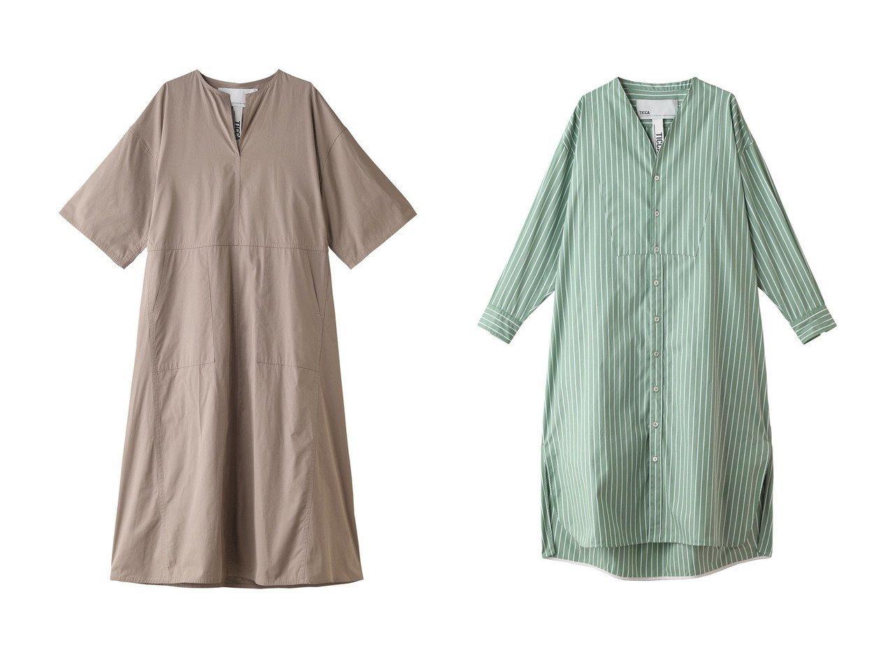 【TICCA/ティッカ】のキーネックロングドレス&ストライプロングシャツカーディガン ワンピース・ドレスのおすすめ!人気、トレンド・レディースファッションの通販 おすすめで人気の流行・トレンド、ファッションの通販商品 メンズファッション・キッズファッション・インテリア・家具・レディースファッション・服の通販 founy(ファニー) https://founy.com/ ファッション Fashion レディースファッション WOMEN ワンピース Dress ドレス Party Dresses 2021年 2021 2021 春夏 S/S SS Spring/Summer 2021 S/S 春夏 SS Spring/Summer シンプル スリット ポケット ロング 春 Spring |ID:crp329100000015045