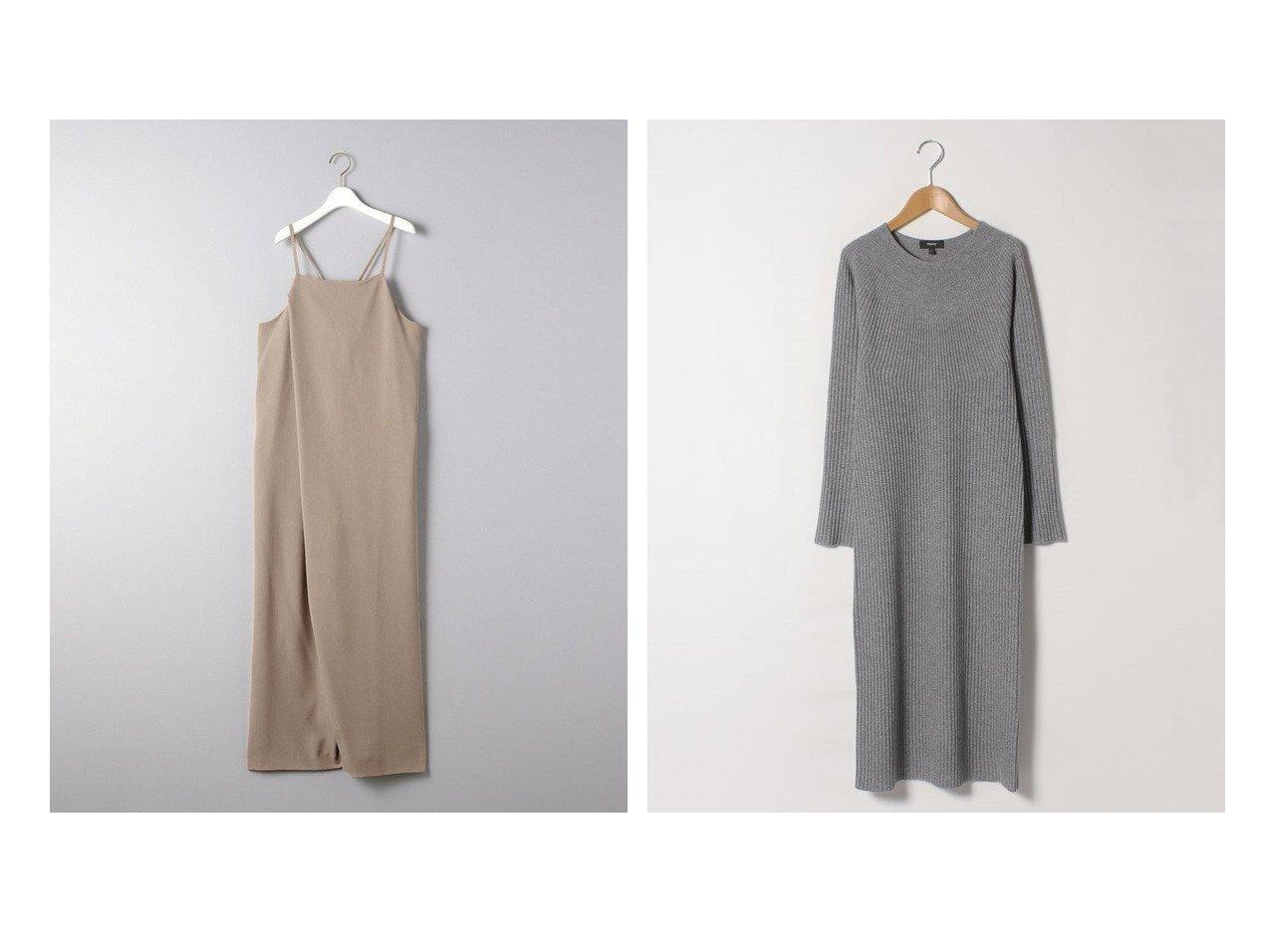 【theory/セオリー】のワンピース MERCER WOOL CASH EASY RIB&【UNITED ARROWS/ユナイテッドアローズ】のUWSC ラップ サロペット ワンピース・ドレスのおすすめ!人気、トレンド・レディースファッションの通販 おすすめで人気の流行・トレンド、ファッションの通販商品 メンズファッション・キッズファッション・インテリア・家具・レディースファッション・服の通販 founy(ファニー) https://founy.com/ ファッション Fashion レディースファッション WOMEN ワンピース Dress サロペット Salopette インナー サロペット ドレープ フロント ラップ リボン ワイド カシミヤ スリーブ ドレス パターン ファブリック ペンシル ミモレ |ID:crp329100000015050