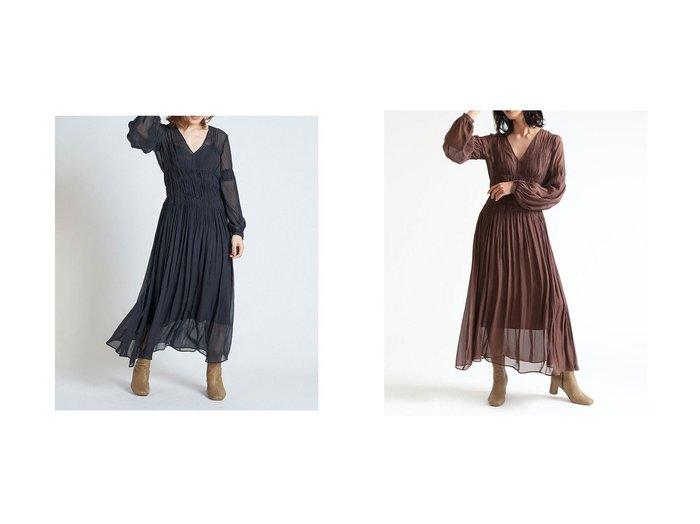 【FRAY I.D/フレイ アイディー】のウエストシャーリングシフォンワンピース ワンピース・ドレスのおすすめ!人気、トレンド・レディースファッションの通販 おすすめファッション通販アイテム インテリア・キッズ・メンズ・レディースファッション・服の通販 founy(ファニー) https://founy.com/ ファッション Fashion レディースファッション WOMEN ワンピース Dress アクセサリー インナー キャミソール シアー シフォン シャーリング スマート デコルテ |ID:crp329100000015052