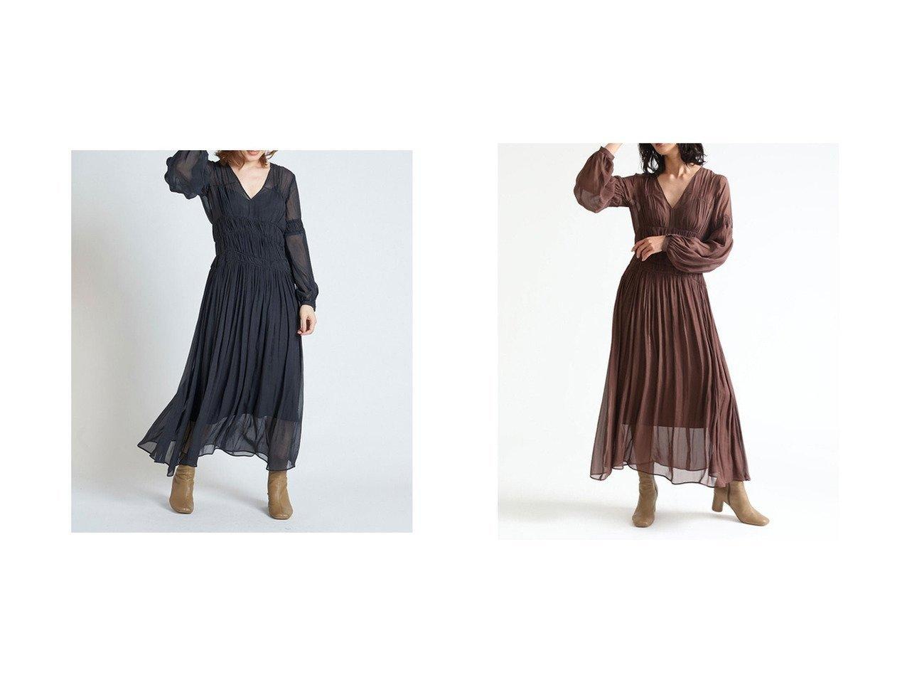 【FRAY I.D/フレイ アイディー】のウエストシャーリングシフォンワンピース ワンピース・ドレスのおすすめ!人気、トレンド・レディースファッションの通販 おすすめで人気の流行・トレンド、ファッションの通販商品 メンズファッション・キッズファッション・インテリア・家具・レディースファッション・服の通販 founy(ファニー) https://founy.com/ ファッション Fashion レディースファッション WOMEN ワンピース Dress アクセサリー インナー キャミソール シアー シフォン シャーリング スマート デコルテ |ID:crp329100000015052