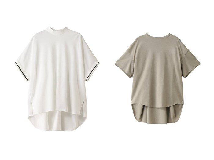 【THE RERACS/ザ リラクス】のハーフスリーブポロシャツ&AラインTシャツ トップス・カットソーのおすすめ!人気、トレンド・レディースファッションの通販 おすすめファッション通販アイテム インテリア・キッズ・メンズ・レディースファッション・服の通販 founy(ファニー) https://founy.com/ ファッション Fashion レディースファッション WOMEN トップス Tops Tshirt シャツ/ブラウス Shirts Blouses ポロシャツ Polo Shirts ロング / Tシャツ T-Shirts カットソー Cut and Sewn 2021年 2021 2021 春夏 S/S SS Spring/Summer 2021 S/S 春夏 SS Spring/Summer シンプル ポロシャツ 春 Spring  ID:crp329100000015057