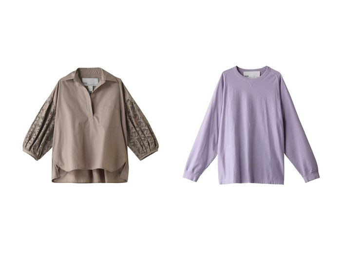 【TICCA/ティッカ】の【UNISEX】ロングTシャツ&レースパフスリーブブラウス トップス・カットソーのおすすめ!人気、トレンド・レディースファッションの通販 おすすめファッション通販アイテム レディースファッション・服の通販 founy(ファニー) ファッション Fashion レディースファッション WOMEN トップス Tops Tshirt シャツ/ブラウス Shirts Blouses ロング / Tシャツ T-Shirts カットソー Cut and Sewn 2021年 2021 2021 春夏 S/S SS Spring/Summer 2021 S/S 春夏 SS Spring/Summer スリット スリム スリーブ ボトム レース ロング 春 Spring  ID:crp329100000015060