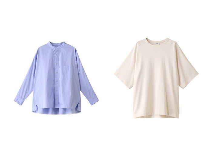 【TICCA/ティッカ】のノーカラースクエアビッグシャツ&【THE RERACS/ザ リラクス】の【UNISEX】スーピマコットンラグランTシャツ トップス・カットソーのおすすめ!人気、トレンド・レディースファッションの通販 おすすめファッション通販アイテム レディースファッション・服の通販 founy(ファニー) ファッション Fashion レディースファッション WOMEN トップス Tops Tshirt シャツ/ブラウス Shirts Blouses ロング / Tシャツ T-Shirts カットソー Cut and Sewn 2021年 2021 2021 春夏 S/S SS Spring/Summer 2021 S/S 春夏 SS Spring/Summer UNISEX ショート シンプル スリーブ 春 Spring  ID:crp329100000015062
