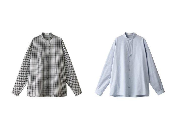 【THE RERACS/ザ リラクス】のバンドカラープラケットチェックシャツ&バンドカラープラケットシャツ トップス・カットソーのおすすめ!人気、トレンド・レディースファッションの通販 おすすめファッション通販アイテム レディースファッション・服の通販 founy(ファニー) ファッション Fashion レディースファッション WOMEN トップス Tops Tshirt シャツ/ブラウス Shirts Blouses 2021年 2021 2021 春夏 S/S SS Spring/Summer 2021 S/S 春夏 SS Spring/Summer ギンガム クール スリーブ チェック トレンド メンズ ロング 春 Spring |ID:crp329100000015066
