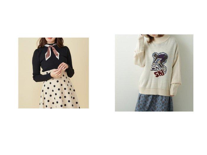 【MiiA/ミーア】のスカーフ付パワーショルダーニット&【DOUBLE NAME/ダブルネーム】のジャガードモチーフニット トップス・カットソーのおすすめ!人気、トレンド・レディースファッションの通販 おすすめ人気トレンドファッション通販アイテム 人気、トレンドファッション・服の通販 founy(ファニー) ファッション Fashion レディースファッション WOMEN トップス Tops Tshirt ニット Knit Tops 2020年 2020 2020-2021 秋冬 A/W AW Autumn/Winter / FW Fall-Winter 2020-2021 A/W 秋冬 AW Autumn/Winter / FW Fall-Winter ショルダー スカーフ トレンド フロント モチーフ |ID:crp329100000015122
