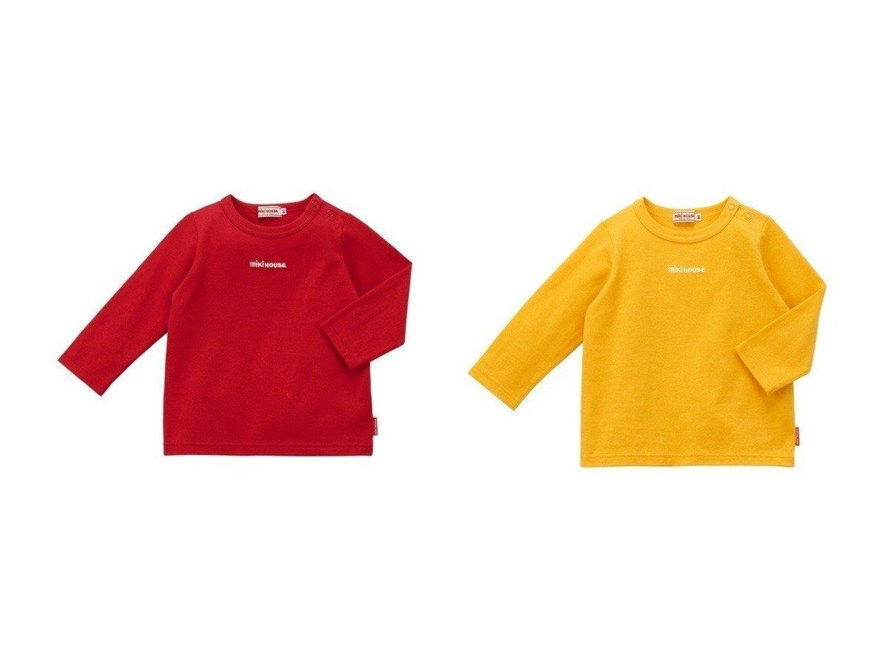 【MIKI HOUSE HOT BISCUITS / KIDS/ミキハウスホットビスケッツ】の【MIKIHOUSE】【日本製】ロゴTシャツ 【KIDS】子供服のおすすめ!人気トレンド・キッズファッションの通販 おすすめで人気の流行・トレンド、ファッションの通販商品 メンズファッション・キッズファッション・インテリア・家具・レディースファッション・服の通販 founy(ファニー) https://founy.com/ ファッション Fashion キッズファッション KIDS トップス Tops Tees Kids 送料無料 Free Shipping インナー シンプル 長袖 |ID:crp329100000015239