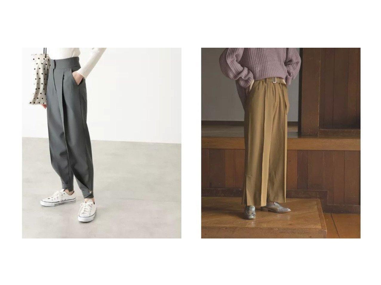 【N.Natural Beauty basic/エヌ ナチュラルビューティーベーシック】の裾ベルト付ジョッパーパンツ&【marjour/マージュール】のWARM SLIT PANTS パンツのおすすめ!人気、トレンド・レディースファッションの通販 おすすめで人気の流行・トレンド、ファッションの通販商品 メンズファッション・キッズファッション・インテリア・家具・レディースファッション・服の通販 founy(ファニー) https://founy.com/ ファッション Fashion レディースファッション WOMEN パンツ Pants ベルト Belts ジャケット スウェット スリット センター ワイド |ID:crp329100000015265