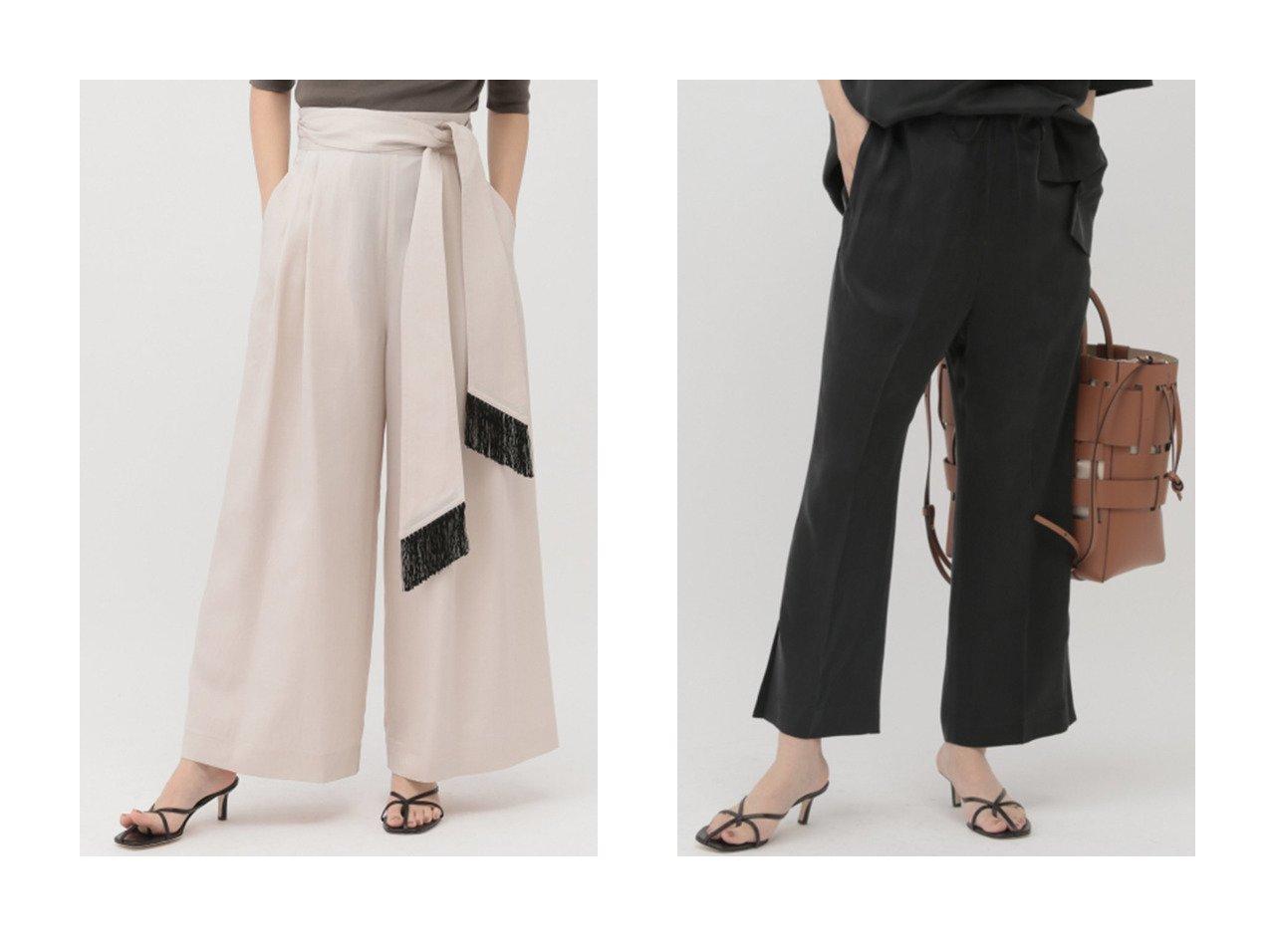 【Chaos/カオス】のフリソルワイドパンツ&リオンサンドパンツ パンツのおすすめ!人気、トレンド・レディースファッションの通販 おすすめで人気の流行・トレンド、ファッションの通販商品 メンズファッション・キッズファッション・インテリア・家具・レディースファッション・服の通販 founy(ファニー) https://founy.com/ ファッション Fashion レディースファッション WOMEN パンツ Pants 2021年 2021 2021 春夏 S/S SS Spring/Summer 2021 S/S 春夏 SS Spring/Summer ドレープ フリンジ フレア リボン ワイド 春 Spring |ID:crp329100000015270