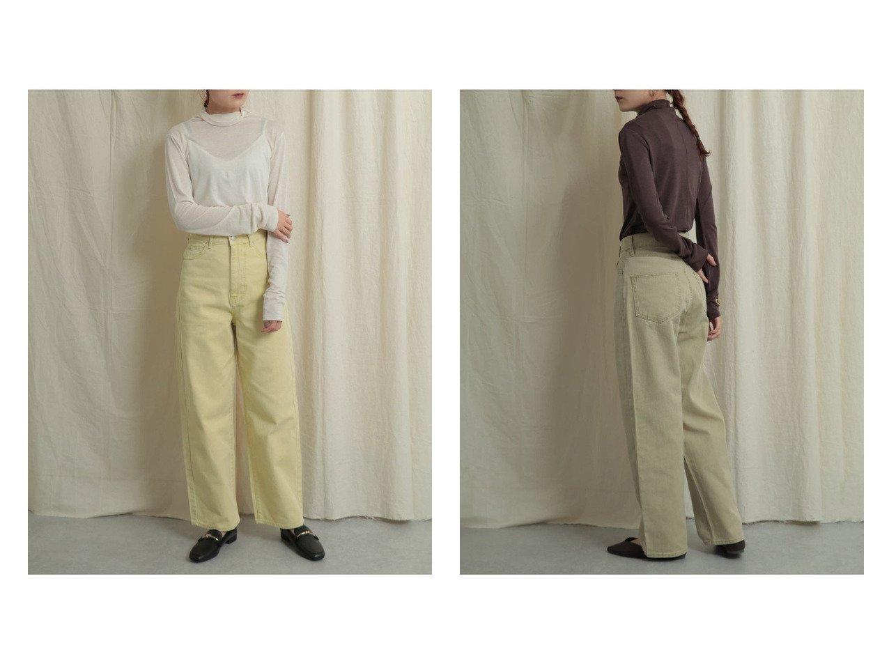 【SENSE OF PLACE / URBAN RESEARCH/センス オブ プレイス】のカラーカツラギパンツ パンツのおすすめ!人気、トレンド・レディースファッションの通販 おすすめで人気の流行・トレンド、ファッションの通販商品 メンズファッション・キッズファッション・インテリア・家具・レディースファッション・服の通販 founy(ファニー) https://founy.com/ ファッション Fashion レディースファッション WOMEN パンツ Pants ジーンズ ポケット |ID:crp329100000015273