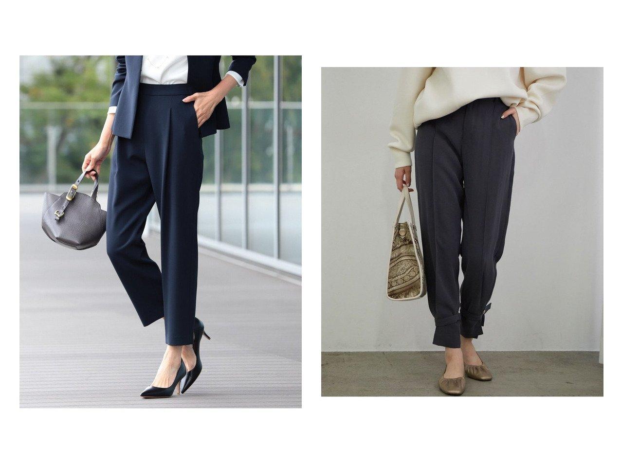 【Demi-Luxe BEAMS/デミルクス ビームス】のDemi- トリアセ 1タックパンツ 21FO&【VIS/ビス】の【2WAY】ヘムストリングハイウエストパンツ パンツのおすすめ!人気、トレンド・レディースファッションの通販 おすすめで人気の流行・トレンド、ファッションの通販商品 メンズファッション・キッズファッション・インテリア・家具・レディースファッション・服の通販 founy(ファニー) https://founy.com/ ファッション Fashion レディースファッション WOMEN パンツ Pants クロップド ジーンズ フォーマル 定番 Standard NEW・新作・新着・新入荷 New Arrivals とろみ シューズ シンプル バランス バレエ ポケット モダン モノトーン リボン リラックス |ID:crp329100000015277