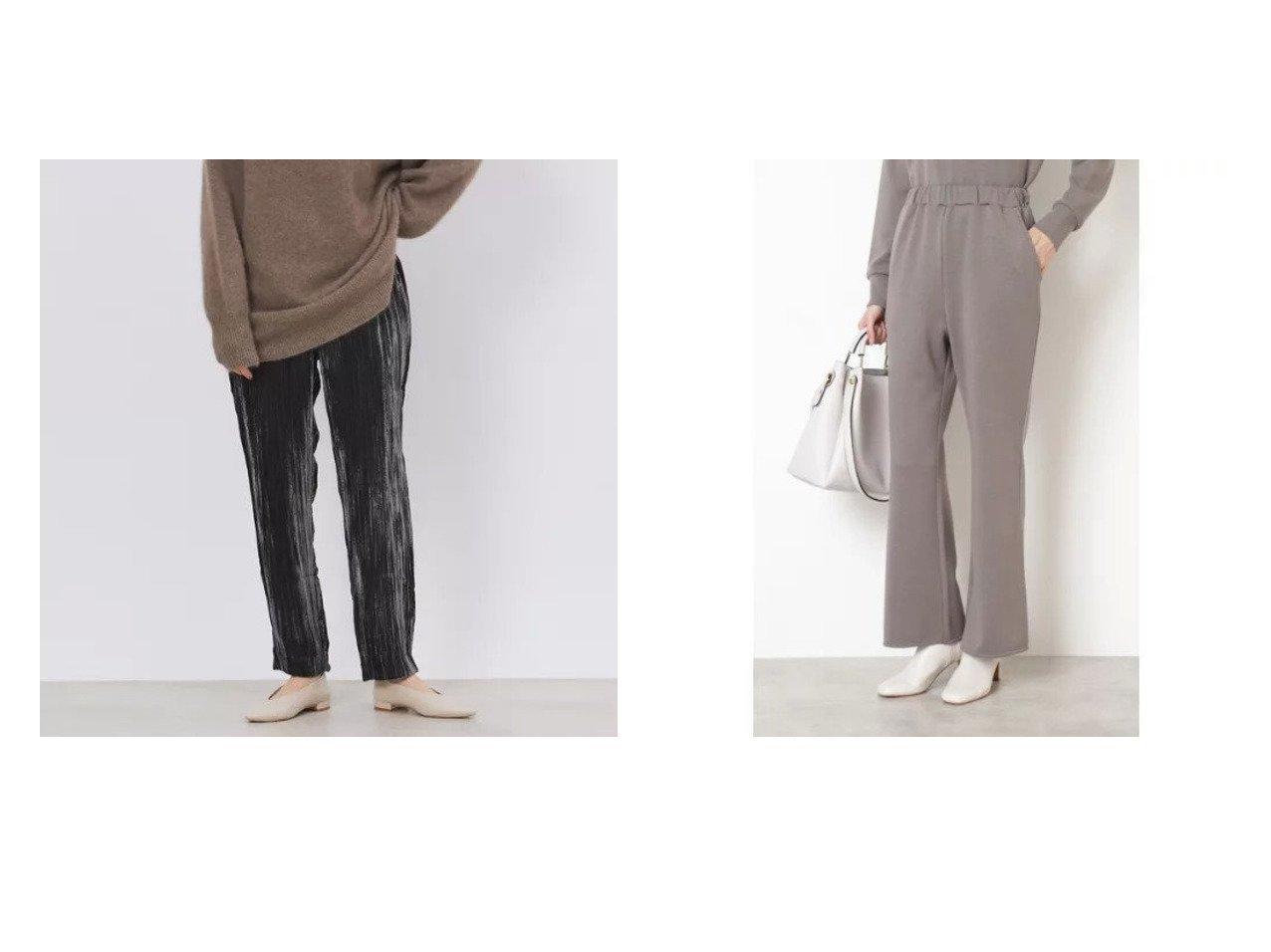 【Rouge vif/ルージュ ヴィフ】の【enrica】クラッシュベルベットパンツ&【NATURAL BEAUTY BASIC/ナチュラル ビューティー ベーシック】のポンチカットソーパンツ パンツのおすすめ!人気、トレンド・レディースファッションの通販 おすすめで人気の流行・トレンド、ファッションの通販商品 メンズファッション・キッズファッション・インテリア・家具・レディースファッション・服の通販 founy(ファニー) https://founy.com/ ファッション Fashion レディースファッション WOMEN パンツ Pants リラックス セットアップ フレア 今季 |ID:crp329100000015282