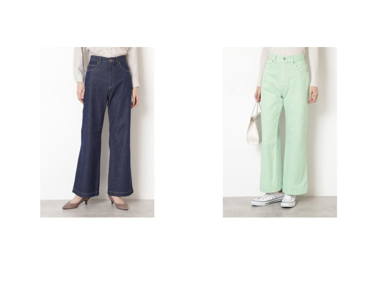 【NATURAL BEAUTY BASIC/ナチュラル ビューティー ベーシック】のデニムパンツ(インディゴ)&デニムパンツ パンツのおすすめ!人気、トレンド・レディースファッションの通販 おすすめで人気の流行・トレンド、ファッションの通販商品 メンズファッション・キッズファッション・インテリア・家具・レディースファッション・服の通販 founy(ファニー) https://founy.com/ ファッション Fashion レディースファッション WOMEN パンツ Pants デニムパンツ Denim Pants インディゴ カットソー チュニック デニム ワイド |ID:crp329100000015284