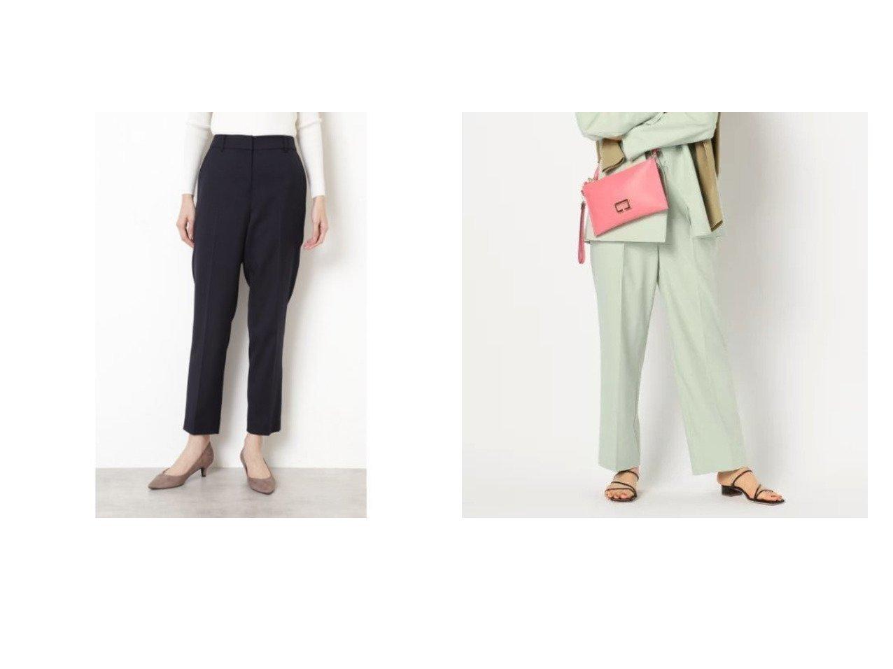 【NOLLEY'S/ノーリーズ】の麻混シャンブレーワイドテーパードパンツ&【NATURAL BEAUTY BASIC/ナチュラル ビューティー ベーシック】のフローラツイル セットアップ パンツ パンツのおすすめ!人気、トレンド・レディースファッションの通販 おすすめで人気の流行・トレンド、ファッションの通販商品 メンズファッション・キッズファッション・インテリア・家具・レディースファッション・服の通販 founy(ファニー) https://founy.com/ ファッション Fashion レディースファッション WOMEN セットアップ Setup パンツ Pants パンツ Pants シンプル ジャケット ストレッチ セットアップ メランジ シャンブレー リネン |ID:crp329100000015285