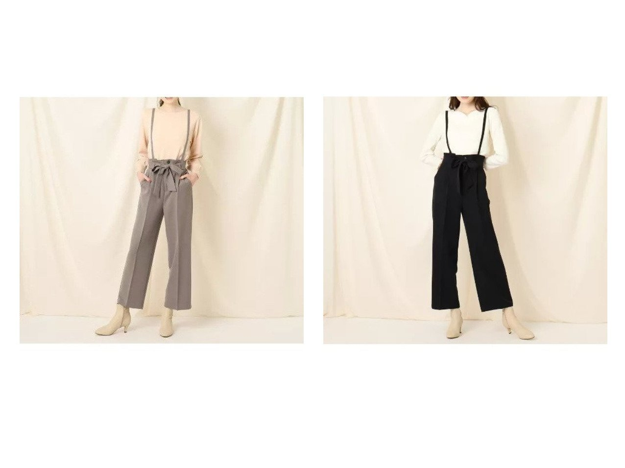 【Couture Brooch/クチュール ブローチ】のサスペンダーワイドパンツ パンツのおすすめ!人気、トレンド・レディースファッションの通販 おすすめで人気の流行・トレンド、ファッションの通販商品 メンズファッション・キッズファッション・インテリア・家具・レディースファッション・服の通販 founy(ファニー) https://founy.com/ ファッション Fashion レディースファッション WOMEN パンツ Pants サスペンダー ストレッチ ポケット リボン ロング ワイド |ID:crp329100000015287