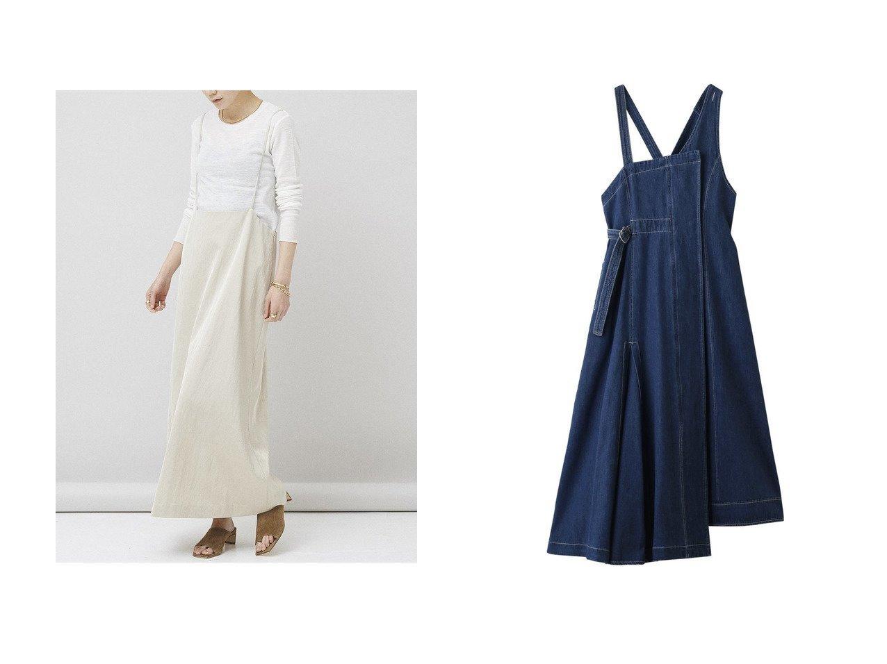 【Curensology/カレンソロジー】のサテンサロペットスカート&【AULA/アウラ】の【AULA AILA】デニムウエストマークジャンパースカート スカートのおすすめ!人気、トレンド・レディースファッションの通販 おすすめで人気の流行・トレンド、ファッションの通販商品 メンズファッション・キッズファッション・インテリア・家具・レディースファッション・服の通販 founy(ファニー) https://founy.com/ ファッション Fashion レディースファッション WOMEN スカート Skirt ロングスカート Long Skirt 2021年 2021 2021 春夏 S/S SS Spring/Summer 2021 S/S 春夏 SS Spring/Summer インナー サテン サロペット スウェット ロング 春 Spring  ID:crp329100000015299