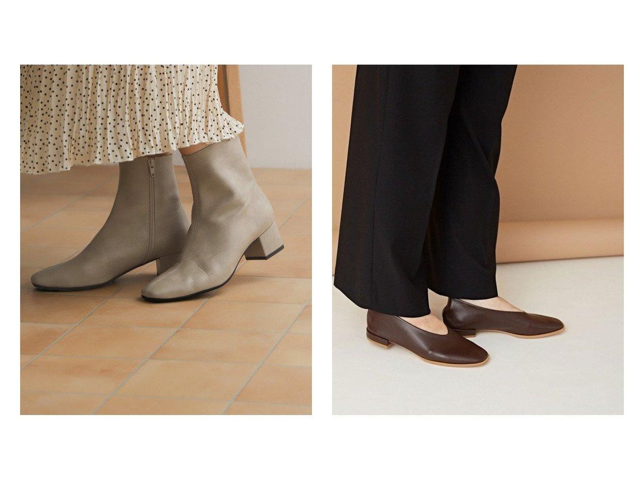 【nano universe/ナノ ユニバース】のスクエアトゥフラットシューズ&【URBAN RESEARCH DOORS/アーバンリサーチ ドアーズ】のストレッチレザーショートブーツ シューズ・靴のおすすめ!人気、トレンド・レディースファッションの通販 おすすめで人気の流行・トレンド、ファッションの通販商品 メンズファッション・キッズファッション・インテリア・家具・レディースファッション・服の通販 founy(ファニー) https://founy.com/ ファッション Fashion レディースファッション WOMEN NEW・新作・新着・新入荷 New Arrivals クッション シューズ ショート ジップ ストレッチ センター トレンド フェイクレザー ベーシック 春 Spring スクエア スタンダード フォルム フラット |ID:crp329100000015321
