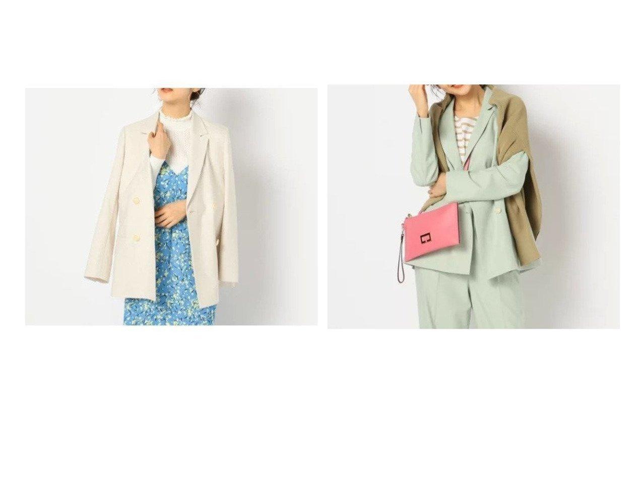 【NOLLEY'S/ノーリーズ】の麻混ダブルジャケット アウターのおすすめ!人気、トレンド・レディースファッションの通販 おすすめで人気の流行・トレンド、ファッションの通販商品 メンズファッション・キッズファッション・インテリア・家具・レディースファッション・服の通販 founy(ファニー) https://founy.com/ ファッション Fashion レディースファッション WOMEN アウター Coat Outerwear ジャケット Jackets シャンブレー ジャケット ストレッチ セットアップ ダブル テーラード リネン |ID:crp329100000015376