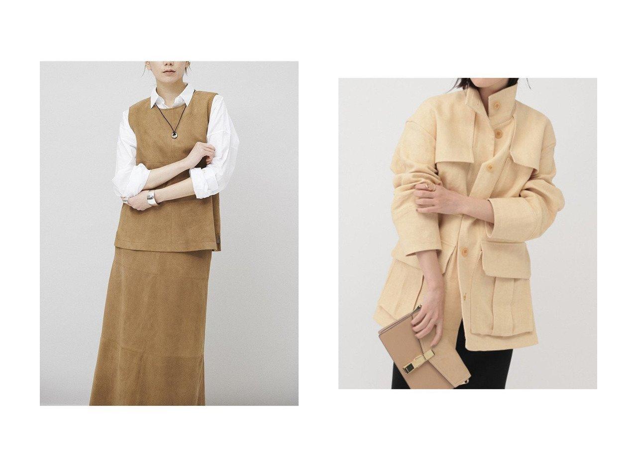 【Curensology/カレンソロジー】のスウェードベスト&【Chaos/カオス】のインセタブルゾン アウターのおすすめ!人気、トレンド・レディースファッションの通販 おすすめで人気の流行・トレンド、ファッションの通販商品 メンズファッション・キッズファッション・インテリア・家具・レディースファッション・服の通販 founy(ファニー) https://founy.com/ ファッション Fashion レディースファッション WOMEN アウター Coat Outerwear ジャケット Jackets ブルゾン Blouson Jackets 2021年 2021 2021 春夏 S/S SS Spring/Summer 2021 S/S 春夏 SS Spring/Summer シンプル ジャケット スエード スリット セットアップ ベスト 春 Spring |ID:crp329100000015379