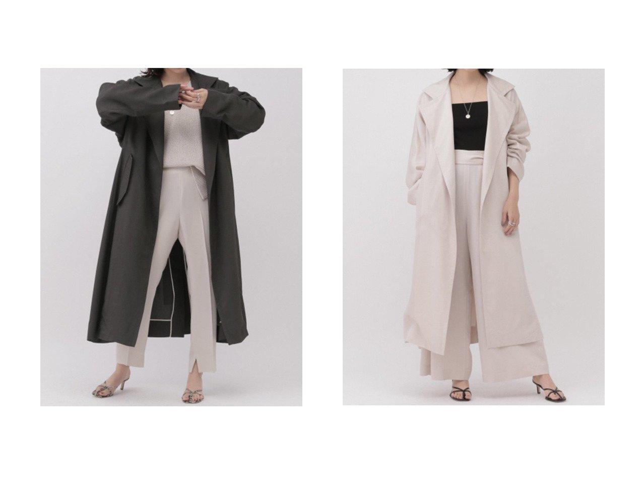 【Chaos/カオス】のフリソルラップガウン アウターのおすすめ!人気、トレンド・レディースファッションの通販 おすすめで人気の流行・トレンド、ファッションの通販商品 メンズファッション・キッズファッション・インテリア・家具・レディースファッション・服の通販 founy(ファニー) https://founy.com/ ファッション Fashion レディースファッション WOMEN アウター Coat Outerwear コート Coats 2021年 2021 2021 春夏 S/S SS Spring/Summer 2021 S/S 春夏 SS Spring/Summer ドレープ ロング 春 Spring |ID:crp329100000015380