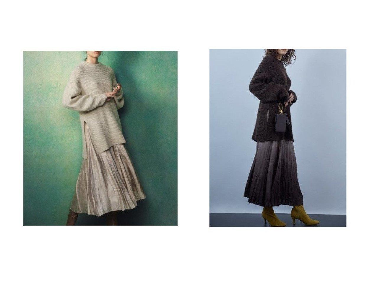 【Mila Owen/ミラオーウェン】のマチフレアスカート畦ニットSETUP ワンピース・ドレスのおすすめ!人気、トレンド・レディースファッションの通販 おすすめで人気の流行・トレンド、ファッションの通販商品 メンズファッション・キッズファッション・インテリア・家具・レディースファッション・服の通販 founy(ファニー) https://founy.com/ ファッション Fashion レディースファッション WOMEN セットアップ Setup トップス Tops スカート Skirt スカート Skirt Aライン/フレアスカート Flared A-Line Skirts A/W 秋冬 AW Autumn/Winter / FW Fall-Winter グラデーション スマート セットアップ フレア 再入荷 Restock/Back in Stock/Re Arrival 畦 |ID:crp329100000015418