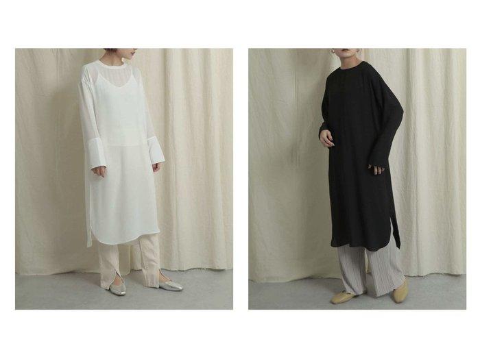 【SENSE OF PLACE / URBAN RESEARCH/センス オブ プレイス】のスリットスリーブシアーワンピース ワンピース・ドレスのおすすめ!人気、トレンド・レディースファッションの通販 おすすめファッション通販アイテム インテリア・キッズ・メンズ・レディースファッション・服の通販 founy(ファニー) https://founy.com/ ファッション Fashion レディースファッション WOMEN ワンピース Dress とろみ インナー インナーキャミ シアー ジョーゼット スリット スリーブ トレンド プリーツ ポケット ワイド |ID:crp329100000015425