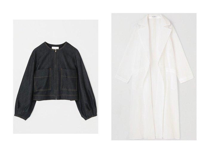 【ANAYI/アナイ】のデニムライクボリュームスリーブジャケット&コットンオーガンジーシアーコート アウターのおすすめ!人気、トレンド・レディースファッションの通販 おすすめファッション通販アイテム レディースファッション・服の通販 founy(ファニー) ファッション Fashion レディースファッション WOMEN アウター Coat Outerwear ジャケット Jackets コート Coats 2021年 2021 2021 春夏 S/S SS Spring/Summer 2021 S/S 春夏 SS Spring/Summer シルク ジャケット ストレッチ デニム ポケット 春 Spring |ID:crp329100000015452