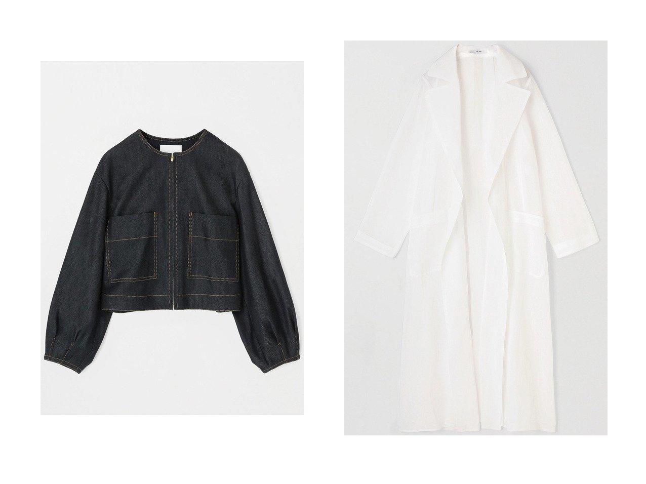 【ANAYI/アナイ】のデニムライクボリュームスリーブジャケット&コットンオーガンジーシアーコート アウターのおすすめ!人気、トレンド・レディースファッションの通販 おすすめで人気の流行・トレンド、ファッションの通販商品 メンズファッション・キッズファッション・インテリア・家具・レディースファッション・服の通販 founy(ファニー) https://founy.com/ ファッション Fashion レディースファッション WOMEN アウター Coat Outerwear ジャケット Jackets コート Coats 2021年 2021 2021 春夏 S/S SS Spring/Summer 2021 S/S 春夏 SS Spring/Summer シルク ジャケット ストレッチ デニム ポケット 春 Spring  ID:crp329100000015452