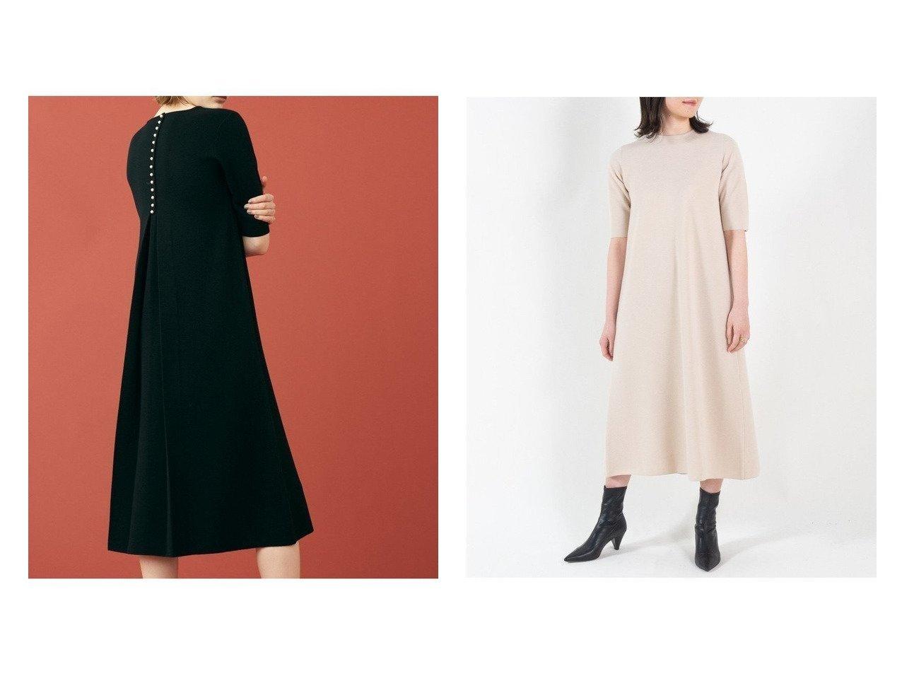 【TOMORROWLAND BALLSEY/トゥモローランド ボールジー】のウールバックパールボタン フレアワンピース ワンピース・ドレスのおすすめ!人気、トレンド・レディースファッションの通販 おすすめで人気の流行・トレンド、ファッションの通販商品 メンズファッション・キッズファッション・インテリア・家具・レディースファッション・服の通販 founy(ファニー) https://founy.com/ ファッション Fashion レディースファッション WOMEN ワンピース Dress ニットワンピース Knit Dresses 2020年 2020 2020-2021 秋冬 A/W AW Autumn/Winter / FW Fall-Winter 2020-2021 A/W 秋冬 AW Autumn/Winter / FW Fall-Winter エレガント クラシカル シューズ スリーブ ハーフ バランス パール フェミニン フラット フレア ロング  ID:crp329100000015477