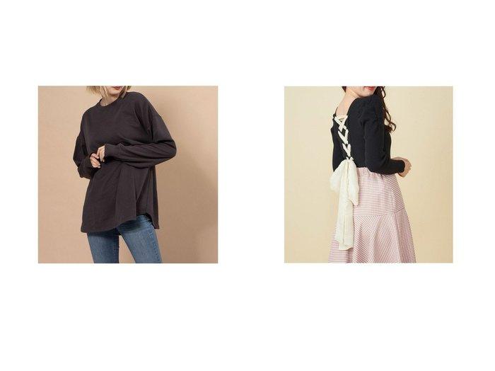 【RIKKA FEMME/リッカファム】のロングスリーブTシャツ&【MiiA/ミーア】のバックリボンパワーショルダーニット トップス・カットソーのおすすめ!人気、トレンド・レディースファッションの通販 おすすめファッション通販アイテム レディースファッション・服の通販 founy(ファニー) ファッション Fashion レディースファッション WOMEN トップス Tops Tshirt ニット Knit Tops シャツ/ブラウス Shirts Blouses ロング / Tシャツ T-Shirts 2021年 2021 2021-2022 秋冬 A/W AW Autumn/Winter / FW Fall-Winter 2021-2022 A/W 秋冬 AW Autumn/Winter / FW Fall-Winter シフォン スマート フィット リボン ショルダー シンプル スリーブ ドロップ ロング |ID:crp329100000015551